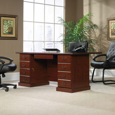 Heritage Hill 70.5''W Executive Desk with Locking Drawers - Classic Cherry