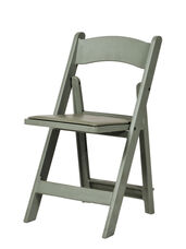 1000 lb. Max Flint Gray Resin Folding Chair