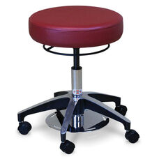 Dual Foot and Hand Operated Adjustable Height Stool
