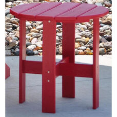 Traditional Recycled Plastic Adirondack Side Table in Red
