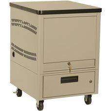 LapTop Depot 10 Capacity Cart - Bone White