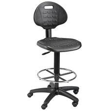 LabTek Height Adjustable Utility Drafting Chair - Black