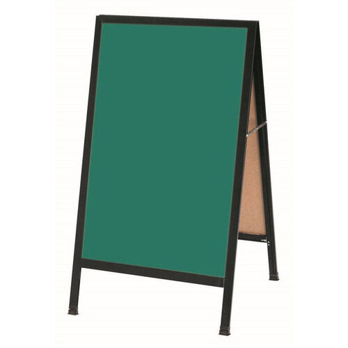 Our A-Frame Sidewalk Green Composition Chalkboard with Black Aluminum Frame - 42