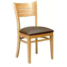 4545 Armless Side Chair with Wood Back - Grade 2