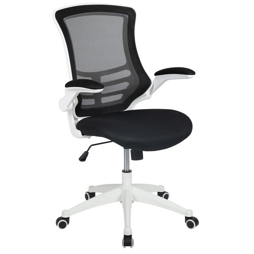 Our Mid-Back Black Mesh Swivel Ergonomic Task Office Chair with White Frame and Flip-Up Arms is on sale now.