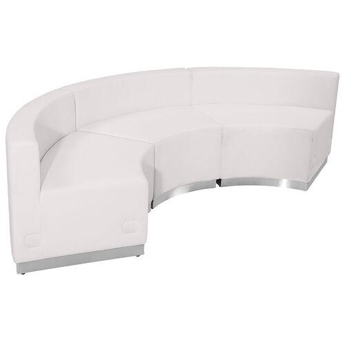 HERCULES Alon Series Melrose White LeatherSoft Reception Configuration, 3 Pieces