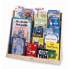 Birch Laminate Book Display Stand with 5 Overlapping Shelves