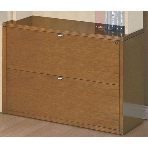 Our OSP Furniture Kenwood Hardwood Veneer Lateral File with Curved Metal Drawer Pulls is on sale now.