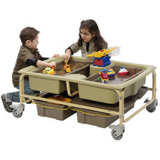 Sand and Water Sensory Learning Center with Storage Tubs - Lids Included