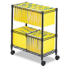 Safco® Two-Tier Rolling File Cart - 25-3/4w x 14d x 29-3/4h - Black