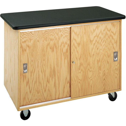 Economy Mobile Wooden Storage Cabinet with 1.25