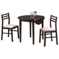 Casual 3 Piece Dining Set with 36