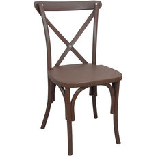 Advantage Brown Resin X-Back Chair