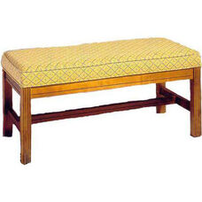 501 Luggage Bench: Wood Rail Upholstered Seat w/ Chippendale Legs - Grade 1