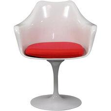 Lippa Arm Chair with Red Cushion