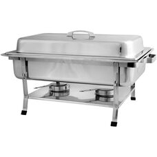 Full Size Welded 8 Quart Chafer with Plastic Footed Set