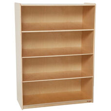 Extra Deep 4 Shelf Wooden Bookcase with Plywood Back - 36