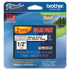 Brother Bk/We Tze Laminated Tape Value Pack - Pack Of 2