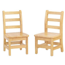 8'' - 16'' High Children's Ladderback Chairs - Set of 2