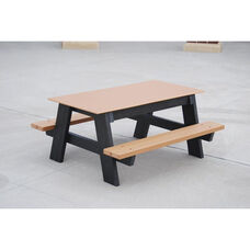 Restaurant Patio Furniture Picnic Tables BizChaircom - Jayhawk plastics hex recycled plastic commercial picnic table