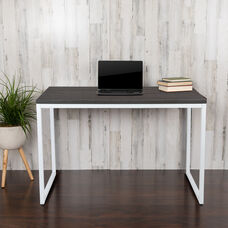 "Commercial Grade Industrial Style Office Desk - 47"" Length (Rustic Gray)"