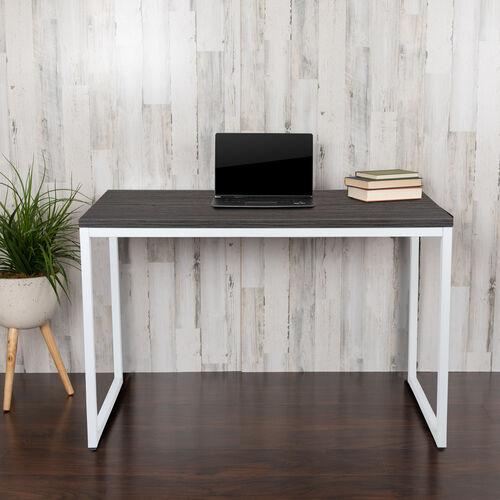 "Our Commercial Grade Industrial Style Office Desk - 47"" Length (Rustic Gray) is on sale now."