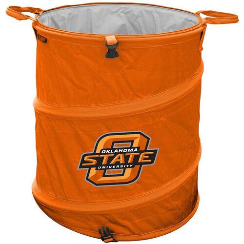 Oklahoma State University Team Logo Collapsible 3-in-1 Cooler Hamper Wastebasket