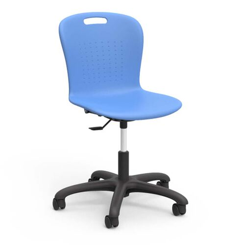 Our Sage Series Adjustable Height Task Chair with Sky Blue Seat - 24.13