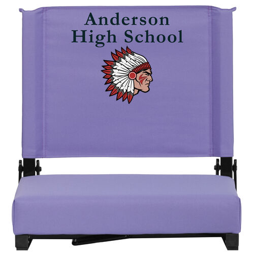 Our Embroidered Grandstand Comfort Seats by Flash with Ultra-Padded Seat in Purple is on sale now.