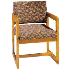 3205 Reception Chair w/ Upholstered Back & Seat - Grade 1