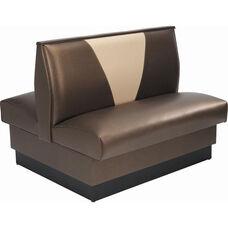 42''H Upholstered V-Shaped Back Double Sided Booth - Grade 5 Vinyl