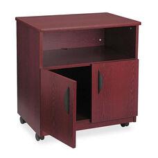 Safco® Laminate Machine Stand w/Open Compartment - 28w x 19-3/4d x 30-1/2h - Mahogany