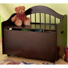 Limited Edition Childs Toy Box with Bench Seat and Flip-Top Lid - Espresso