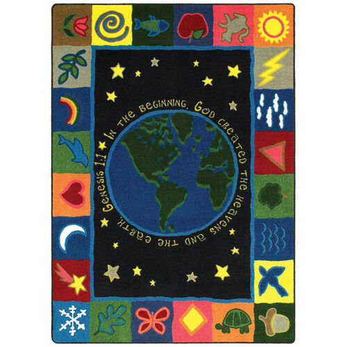 Our In the Beginning Rug is on sale now.