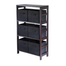 Capri 3-Tier Shelf with Black Baskets