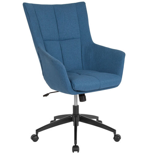 Our Barcelona Home and Office Upholstered High Back Chair in Blue Fabric is on sale now.