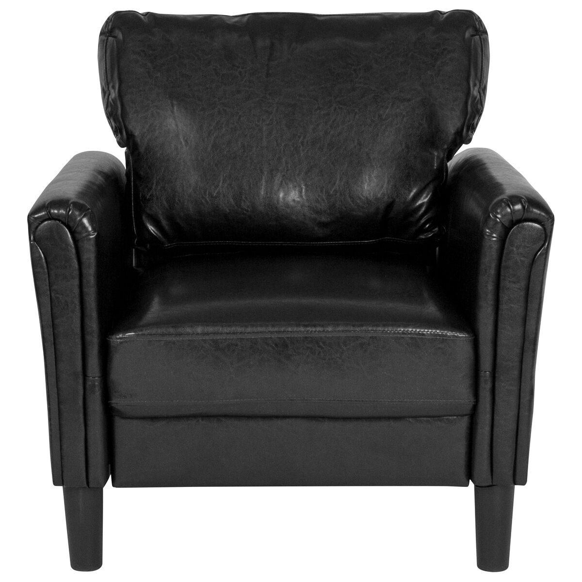 Wondrous Bari Upholstered Chair In Black Leather Pabps2019 Chair Design Images Pabps2019Com
