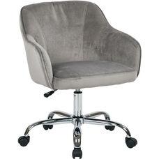 Ave Six Bristol Fabric Task Chair - Charcoal Velvet