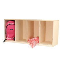 Open Stacking Locker Unit with Four Storage Compartments - Assembled - 49