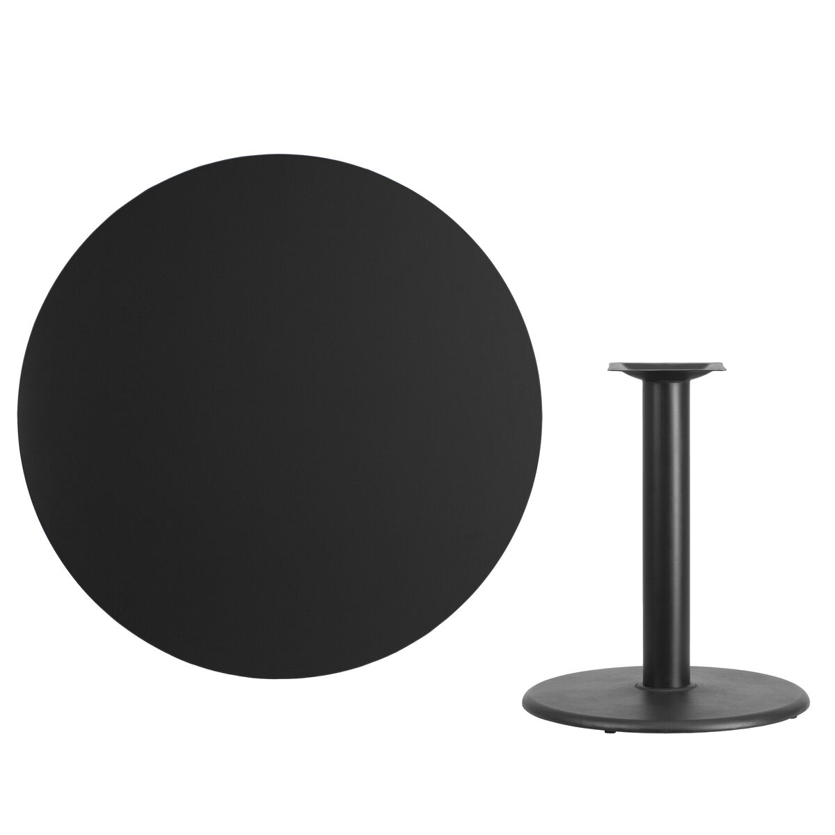 Round Table Seating Capacity T Amp D Restaurant Equipment 42 Round Black Laminate Table