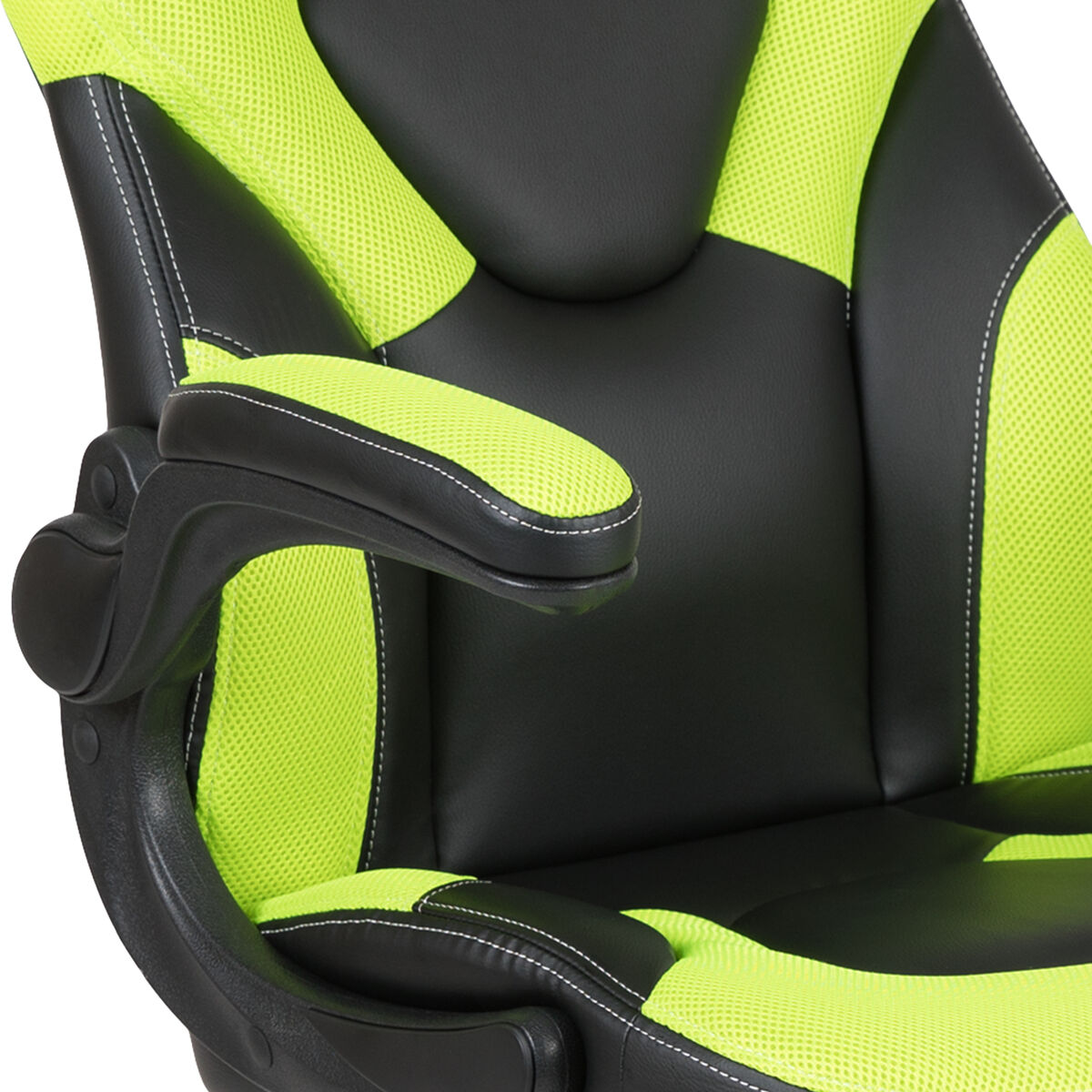 Cool X10 Gaming Chair Racing Office Ergonomic Computer Pc Adjustable Swivel Chair With Flip Up Arms Neon Green Black Leathersoft Ocoug Best Dining Table And Chair Ideas Images Ocougorg