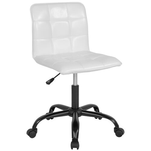 Sorrento Home and Office Task Chair in White LeatherSoft