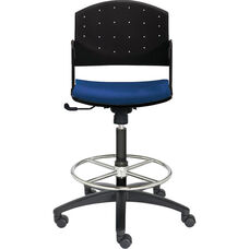 Eddy Tall Height Swivel Stool with Upholstered Seat Pad