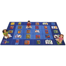 Reading By The Book ABC Rectangular Seating Rectangular Nylon Rug - 70