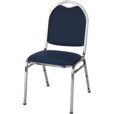 500 Series Stacking Armless Hospitality Chair with Rounded Back and 1.5'' Upholstered Seat