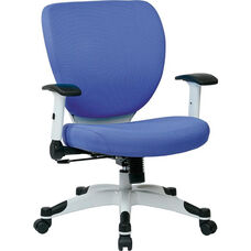 Space Pulsar Fabric Seat and Back Managers Office Chair - Dove Sky
