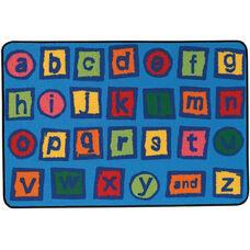 Kids Value Alphabet Blocks Rectangular Nylon Rug - 48