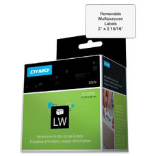 Dymo Removable Multipurpose Labelwriter Labels - Pack Of 250