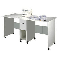 Folding Craft Table with Drawer