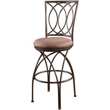 Big and Tall Metal Crossed Legs Swivel Barstool - Bronze and Mocha Fabric